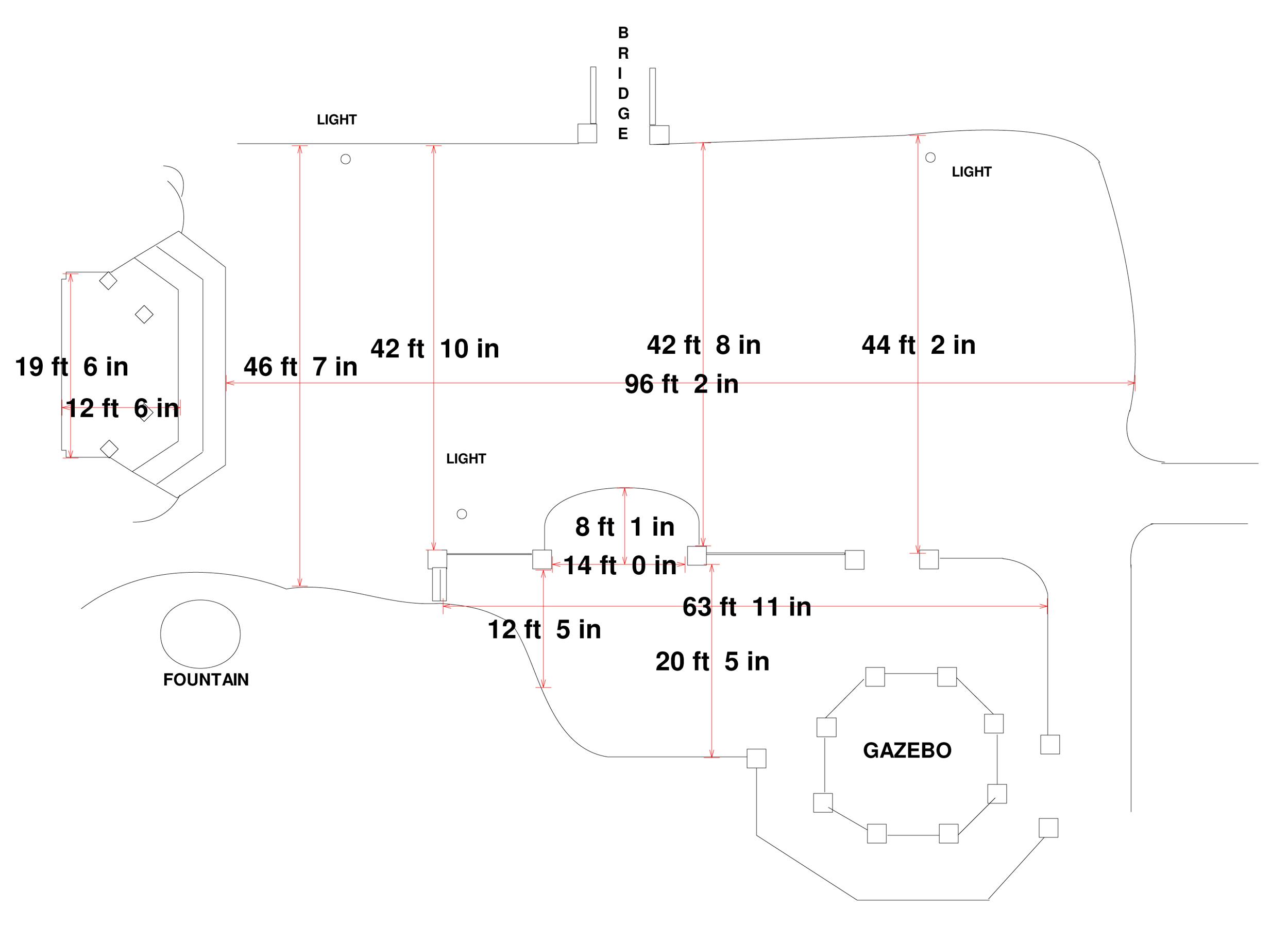 Lower Level El Teatro Dimensions